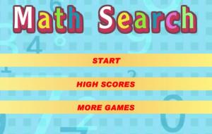 Math Search Game