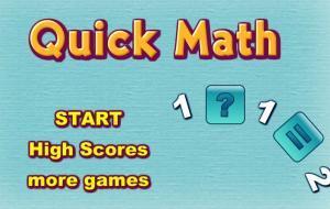 Quick Math Game