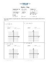 PDF: Algebra, Pre-Algebra - slope, standard form