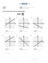 PDF: Algebra, Pre-Algebra - slope