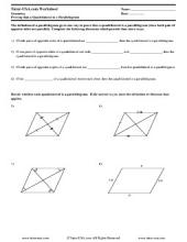 PDF: Geometry - geometry proofs, quadrilaterals, parallograms