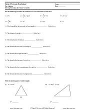 PDF: Pre-Algebra - formulas, equations
