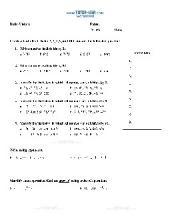 PDF: Pre-Algebra - divisibility rules, gcf, exponents