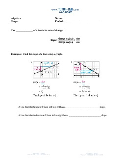 PDF: Algebra - slope