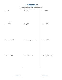 PDF: Algebra - radicals