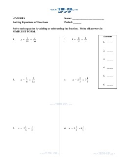 PDF: Algebra - equations