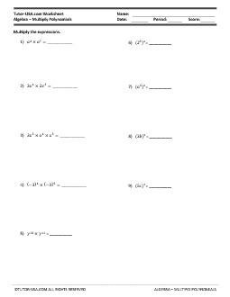 PDF: Algebra - polynomials, polynomial