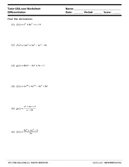 PDF: Calculus - polynomials, derivatives, differentiation