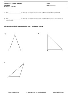 PDF: Geometry - triangles, concurrent lines, altitude, median