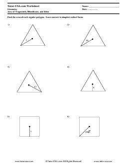 Worksheet: Area of Regular Polygons Worksheet - Trapezoids ...