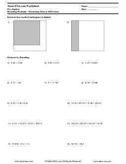 PDF: Pre-Algebra - rounding, estimating