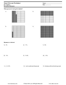 PDF: Pre-Algebra - decimals, fractions, percents