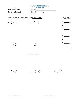 PDF: Pre-Algebra - fractions