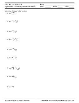 PDF: Trigonometry - Trigonometry Functions, functions