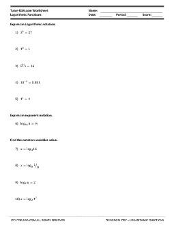 PDF: Trigonometry - Logarithms