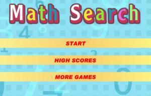 Math Search Game