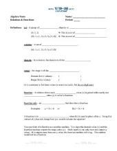 PDF: Algebra - functions, vertical line test, mapping diagrams, domain, range