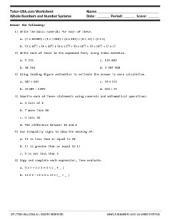 PDF: Pre-Algebra, Basic Math, Middle School Math, 7th Grade Math, 8th Grade Math - estimating, expanded form, inequalities